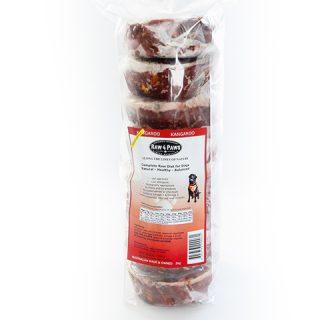 Roo Patties 8 x 250g raw kangaroo patties for dogs