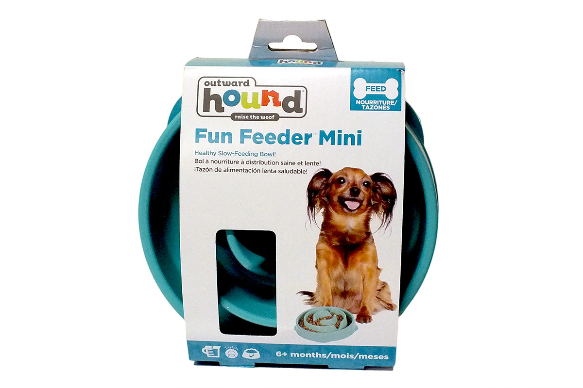 Outward Hound Kyjen Slow Feeding Bowl Mini - Green