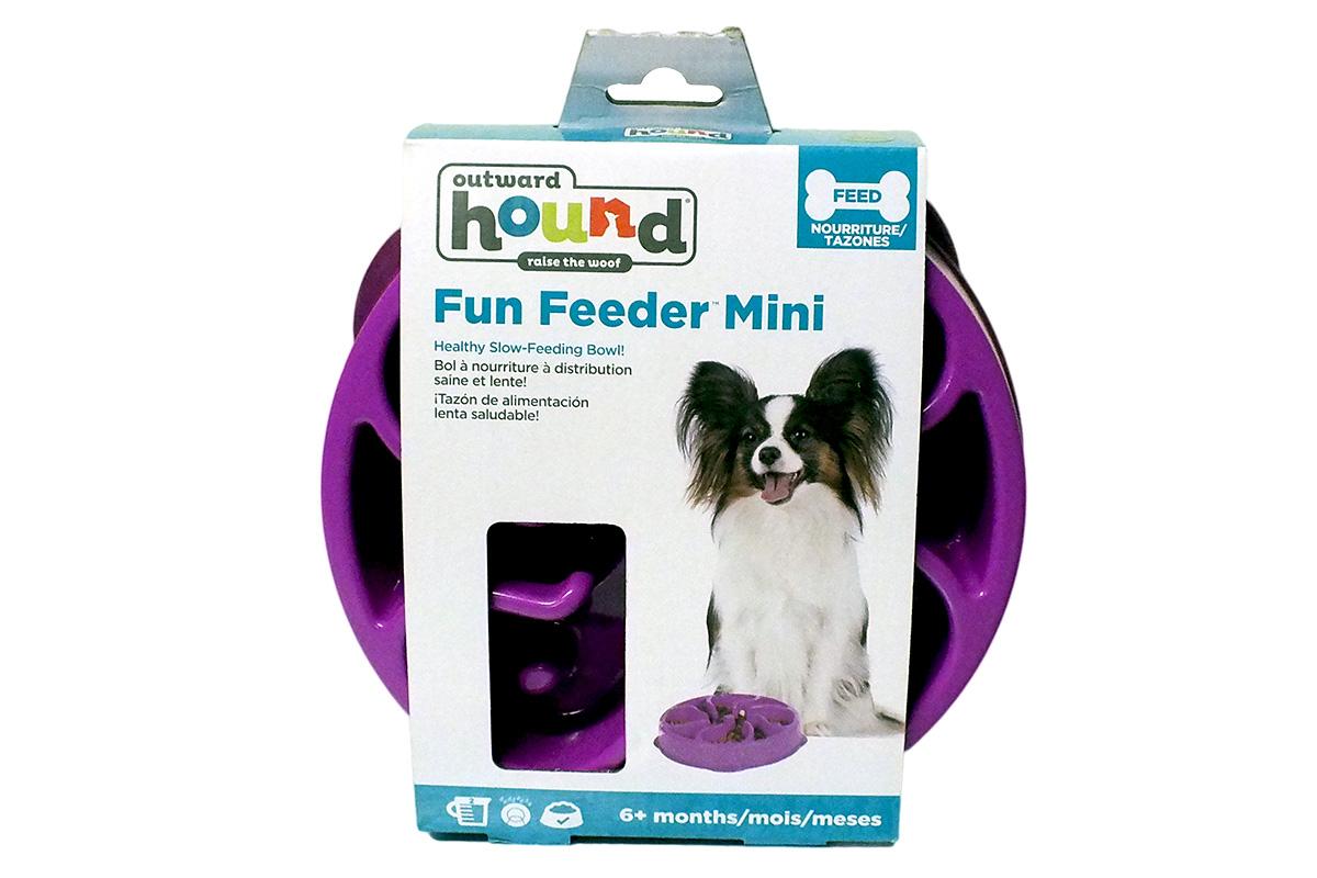 Outward Hound Kyjen Slow Feeding Bowl Mini - Purple