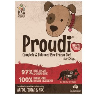 Proudi Raw Frozen Red Combo Patties for Dogs 2.8kg