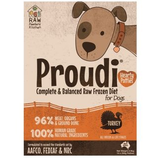 Proudi Turkey Patties are a great way to feed balanced raw to your dogs