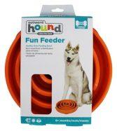 Large orange Outward Hound Slow Feeding Bowl for Dogs