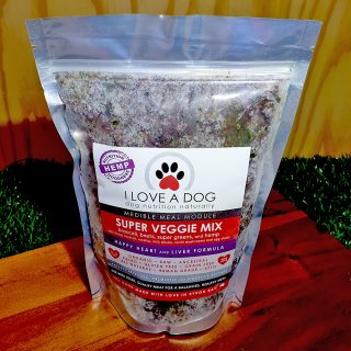 Super Veggie Mix 700g - I Love a Dog veggie mix for dogs eating a raw food diet or can be added to kibble to boost the nutritional value
