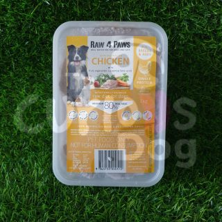 Raw 4 Paws Chicken Container 1kg raw food for dogs
