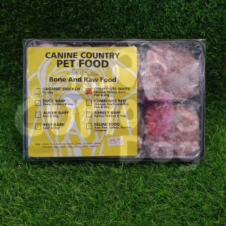 Image of Canine Country Composite White BARF Portion Tray 1kg