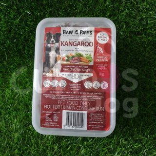 Raw 4 Paws Kangaroo Container 1kg raw food for dogs