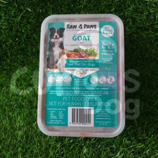 Raw 4 Paws Goat Container 1kg raw food for dogs