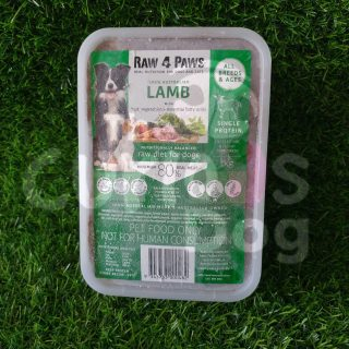 Raw 4 Paws Lamb Container 1kg raw food for dogs