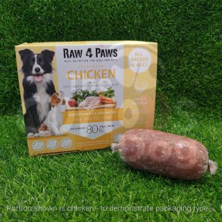 Raw 4 Paws Chicken Portions for Dogs 1.6kg raw food