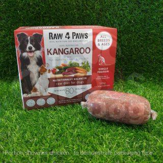 Raw 4 Paws Kangaroo Portions 1.6kg raw food barf for dogs