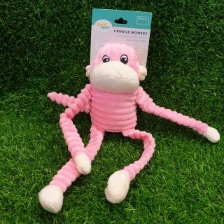 Zippy Paws Crinkle Monkey Dog Toy
