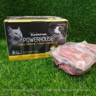 Organic Paws Powerhouse Lamb & Chicken with Turmeric & Coconut Oil raw food for dogs