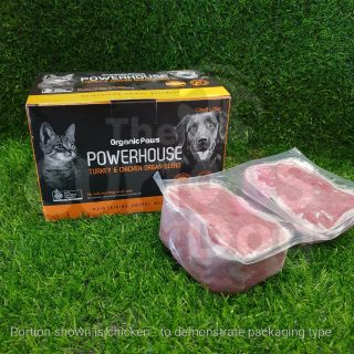 Organic Paws Powerhouse Turkey & Chicken Organ Blend with Sardines raw food for dogs